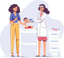 Les vaccins et les médicaments pour enfants.