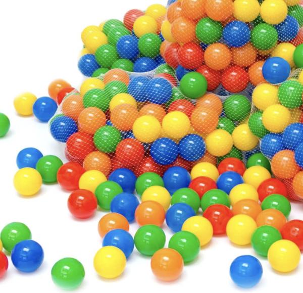 Balles en plastique