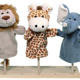 Marionettes animaux en peluche